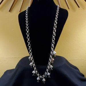LOFT Silverchain Dangle Bead Necklace #565